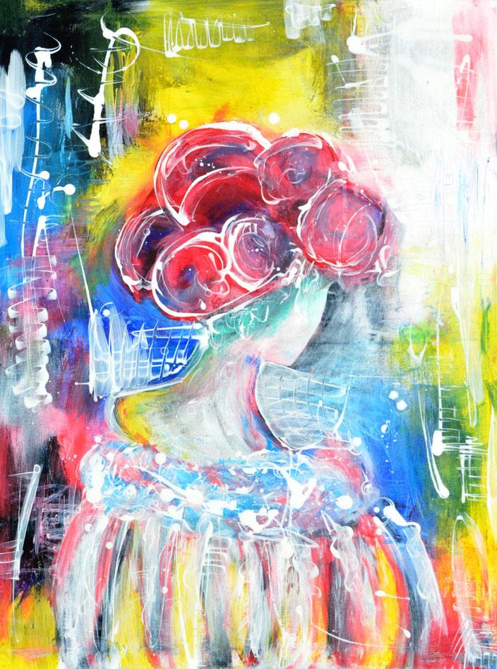 Blackforestgirl/Schwarzwald/Schwarzwaldmädel/Schwarzwaldbilder/Bollenhut/Trachtenmädchen/Acrylmalerei/romantische Malerei/Heimat/heileWelt/Träumerei/dreams/butterfly/flowers/Blütenmeer/abstrakte Malerei