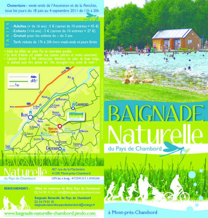 Piscine naturelle de Mont prés Chambord