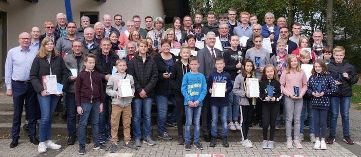 Siegerehrung Stadtmeisterschaft 2019 in Sudhagen 27.10.2019