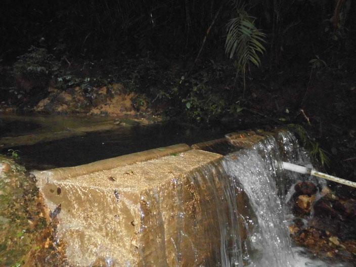 Eines von vier Stau-und Sedimentationsbecken des Trinkwasserversorgungssystems