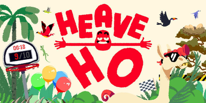 Heave Ho, Devolver Digital, Le Cartel Studio, Frederic Coispeau, Switch, Nintendo, Coop, Lama, Multiplayer, Münze, Kostüm, Vier, Hände, Schwing, Party