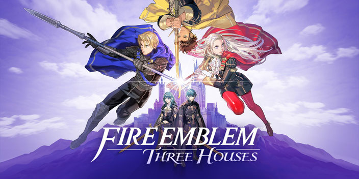 Fire Emblem, Three Houses, Nintendo, Switch, Koei Tecmo, Intelligent Systems, Garreg Mach, Kloster, Fódlan, Kaiserreich, Adrestian, Faerghus, Königreich, Allianz, Leicester, Seiros, Adler, Löwen, Hirsche, Byleth, Jeralt, Rhea, Edelgard, Dimitri, Claude
