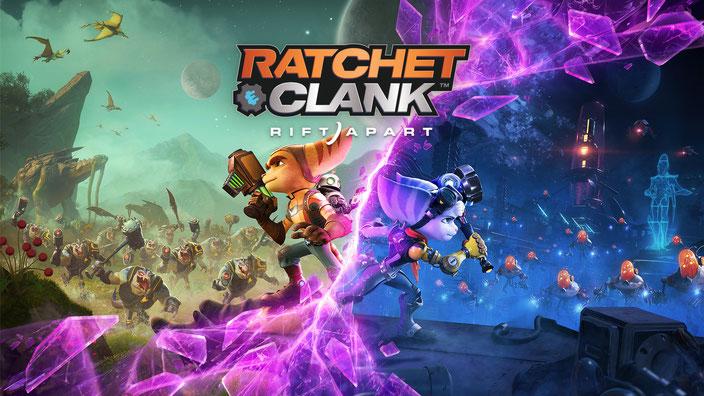 Titelbild des Playstation 5 Spiels Ratchet & Clank: Rift Apart von Insomniac Games