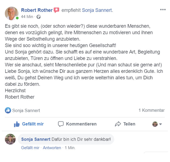 Robert Rother über Sonja Sannert