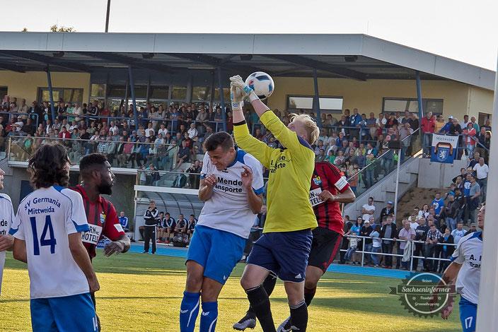 Germania Mittweida vs. Chemnitzer FC - Stadion am Schwanteich