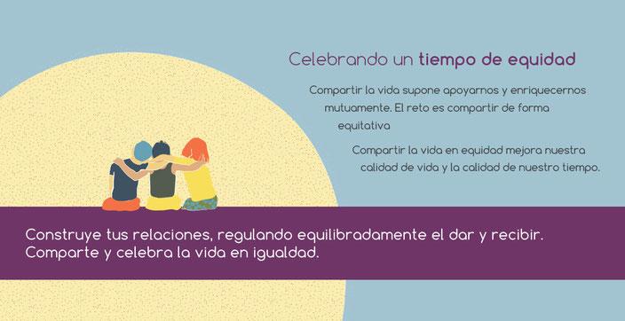 Ilustraciones del calendario 'Gestionar la vida en igualdad' con las empresas de economía social Freepress S.Coop.Mad y Amantara S.Coop.Mad. (2015)