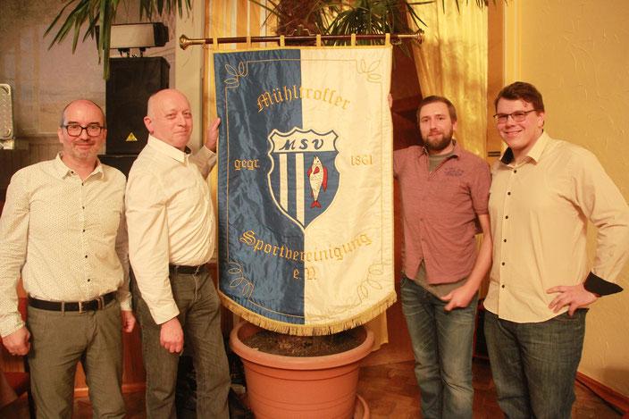v.l.: Torsten Zimmermann, Karl-Heinz Lindner, Roy Zimmermann & Jan Kessel (Bild: jst)