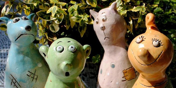 Keramik-Figuren von Landhausidyll