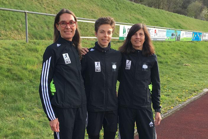 Kreisrekord bei den Frauen! v.l.: Claudia Göbel, Julia Fritz, Yvonne Heck