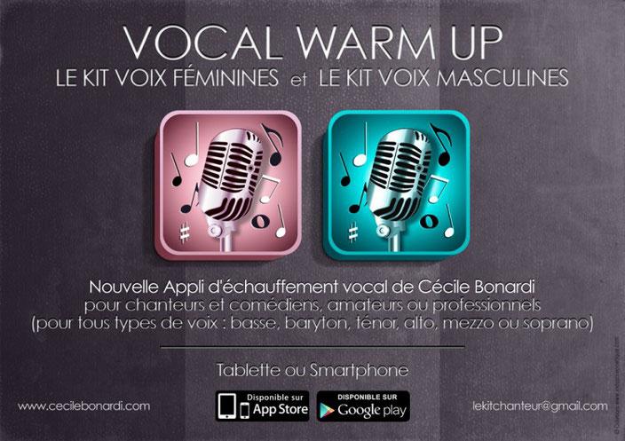 VOCAL WARM UP - Une appli d'échauffement vocal lancée par Cécile Bonardi, Intervenante ponctuelle au Studio Acting Line, Cécile Bonardi est une coach vocale de renommée internationale. www.actinglinestudio.com