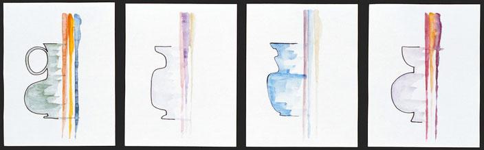 Amphora, 2010, Tusche / Aquarell auf Papier, 20 x 15 cm