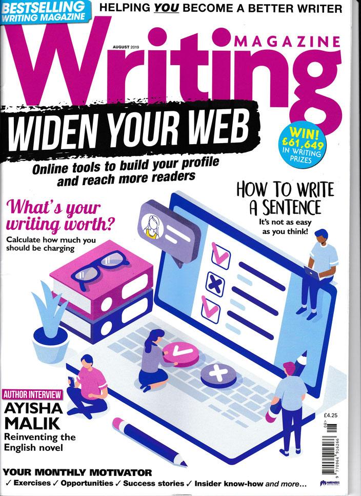 Blackbird profiled in Writing Magazine, UK's top magazine