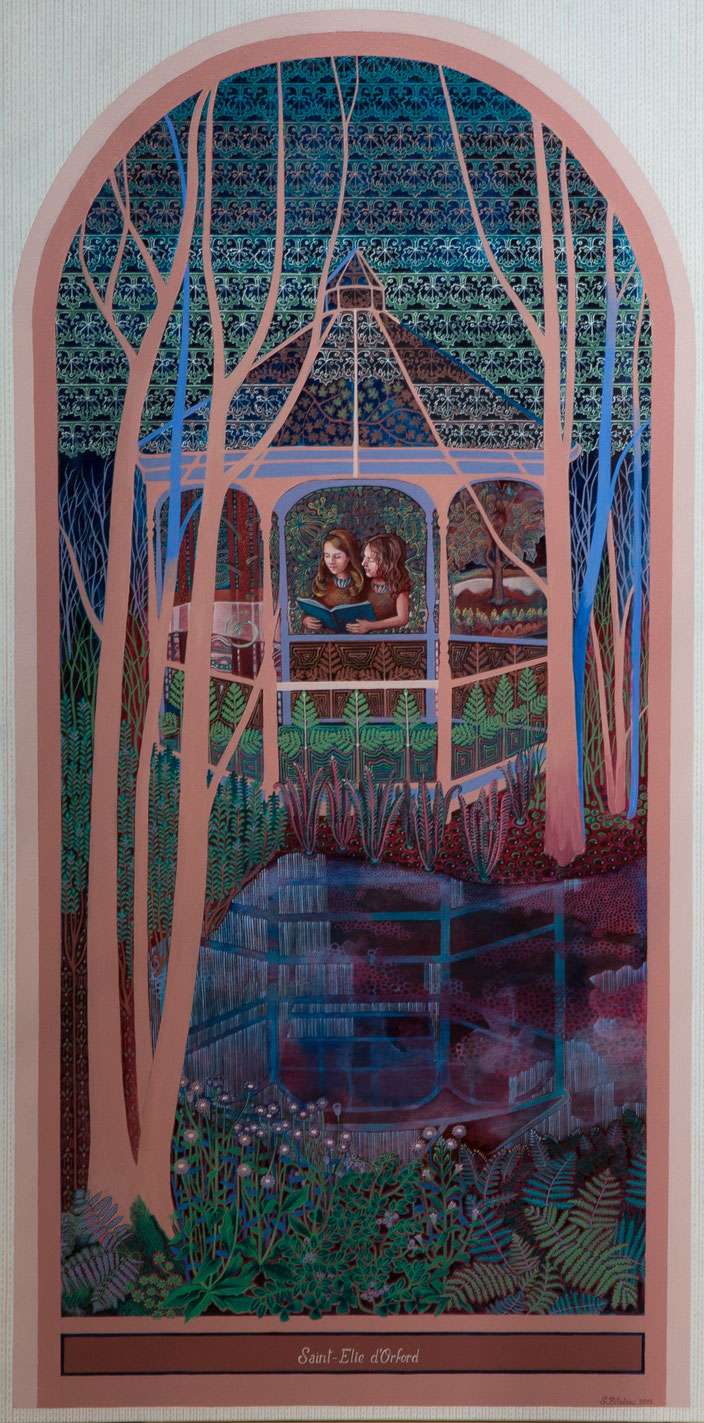 La Nef. Acrylique sur toile. 122 cm x 61 cm. 2015.  Copyright Johanne Bilodeau ----- DISPONIBLE