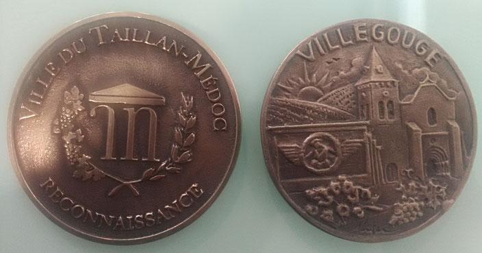 Médaille, plaque commémorative trophée en bronze fondu par la Fonderie des Cyclopes, Mérignac, Bordeaux
