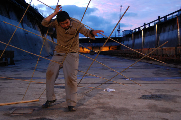 Boat People (2011) site specific theatre · production photography by Mel Piper · Das Letzte Kleinod