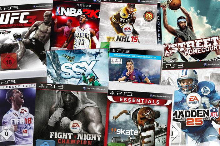PS3 Sportspiele Übersicht