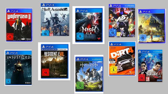 Beste PS4-Spiele 2017 Übersicht