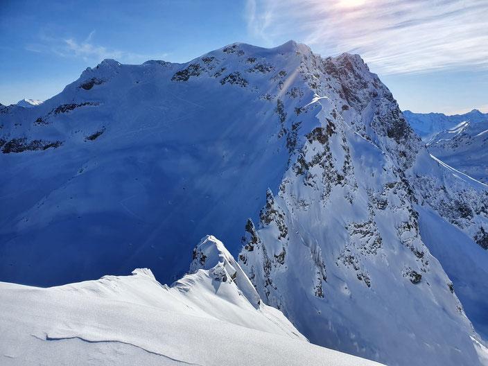 Skitour Piz d'Emmat Dadaint, Piz Lagrev, Julierpass, Graubünden, Leg Grevalsalvas, öv, Bivio, Engadin, Piz da las Coluonnas