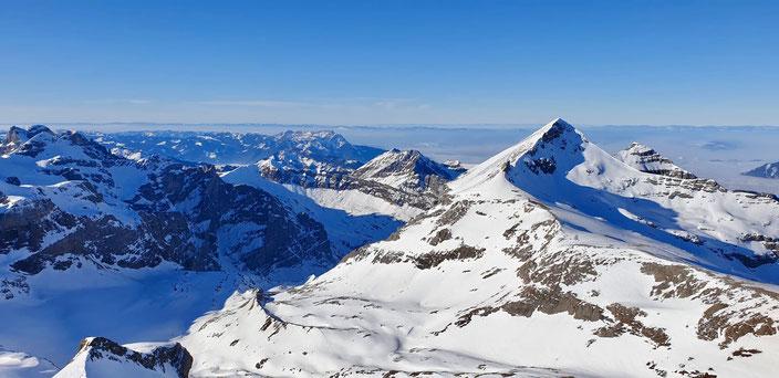 Skitour, Uri Rotstock, Schweiz, Uri, Isenthal, St. Jakob, Uri Rotstock, Brunnistock, Ruchstock, Lauberz, Gitschenhörelihütte, Altdorf, Bösenboden, Vorgipfel, Südostgrat