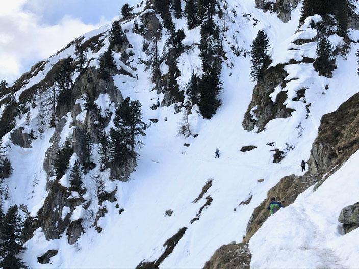 Aletschhorn, Skitour, Skihochtour, Blatten, Belalp, Oberaletsch, Zustieg Oberaletschhütte im Winter, Wallis