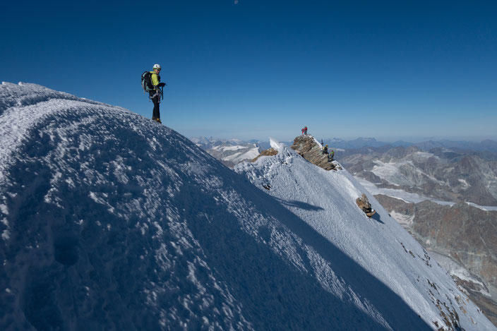 Matterhorn, Horu, Hörnligrat, Bergsteigen, Zermatt, Schweiz, Italiener Gipfel, Italienischer Gipfel