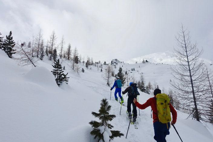 Skitour, Graubünden, Schweiz, Val Müstair, Ofenpass, Engadin, Piz Dora, Piz Turettas, Tschierv, Fuldera, Lai da Chazfora