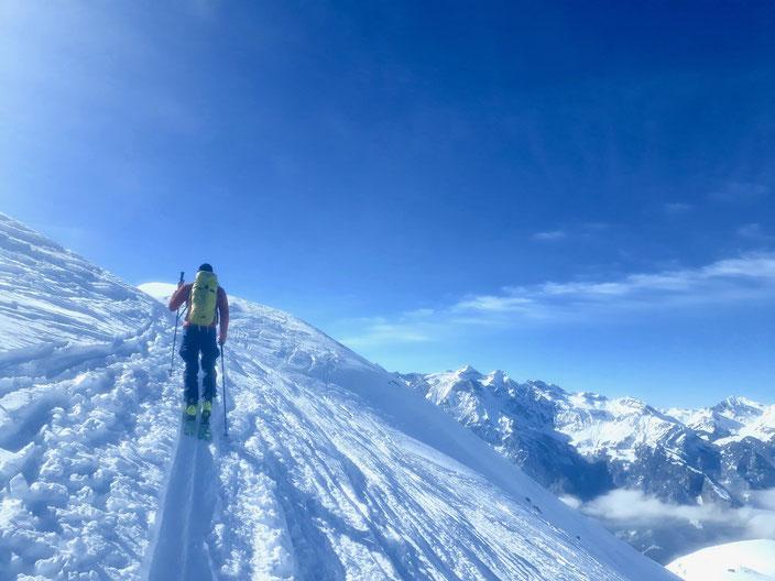 Skitour, Hagelstock, Lidernen, Uri, Riemenstalden, Chäppeliberg, Lidernenhütte, Switzerland