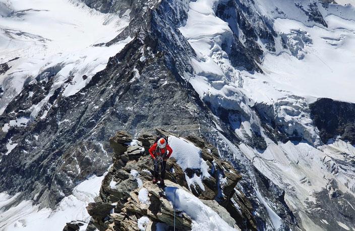 Weisshorn, Schaligrat, Hochtouren, Wallis, 4000er, Schalijochbiwak, Direktaufstieg, Schatzplatte, Schaligletscher