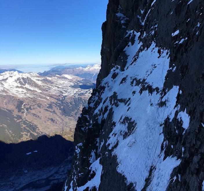 Eiger Nordwand, Eiger Northface, Eiger Heckmair, Götterquergang, Traverse of the gods