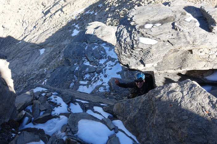 Ferdenrothorn, Nordgrat, Gipfelaufschwung, Balmhorn, Gitzifurggu, Lötschenpass, Lötschenpasshütte
