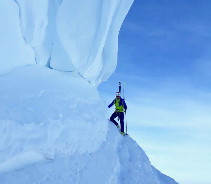 Skitour, Schweiz, Tagesskitour, BEO, Chindbettipass, Engstligenalp - Chindbettipass, Roter Totz, Lämmerenhütte, Wildstrubel, Wildstrubel Umrundung, Wildstrubel Rundtour, Grossstrubel, Früestücksplatz, Wächte, Engstligenalp