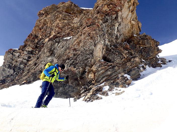 Skitour, Schweiz, Tagesskitour, BEO, Chindbettipass, Engstligenalp - Chindbettipass, Roter Totz, Lämmerenhütte, Wildstrubel, Wildstrubel Umrundung, Wildstrubel Rundtour, Grossstrubel, Früestücksplatz, Engstligenalp