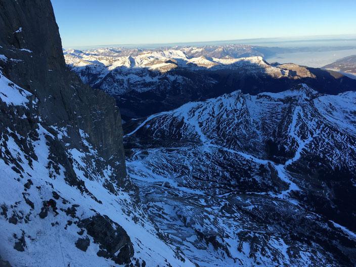 Eiger Nordwand, Eiger Northface, Eiger Heckmair, zweites Eisfeld, second ice field