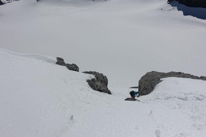 Skitour, Schweiz, Zwächten, Gross Spannort, Gipfelanstieg, Bärenstock, Meiental, Gorezmettlen, Rossbiel, Rossfirn, Chüefad