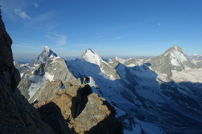 Zinalrothorn, Rothorngrat, Matterhorn, Ober Gabelhorn, Dent Blanche