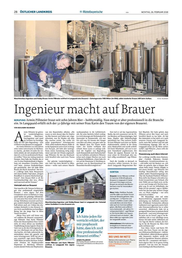 Mittelbayerische Zeitung 26.02.2018
