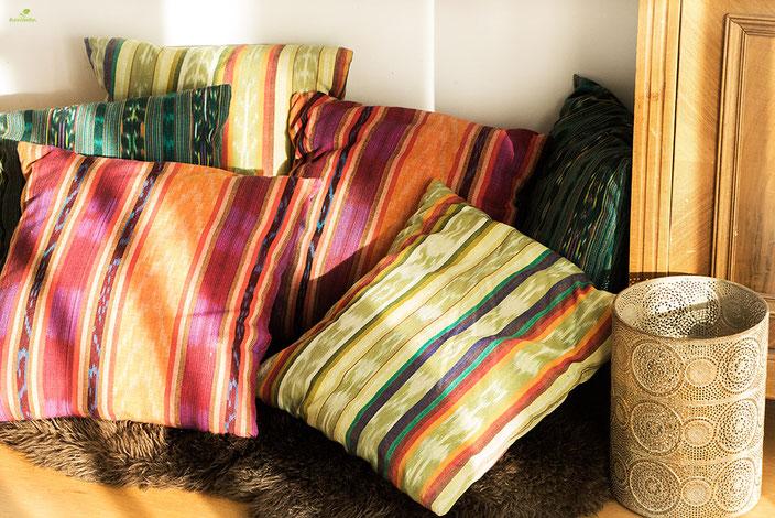 Kissen aus guatemalischen Stoffen Stoffe aus aller Welt