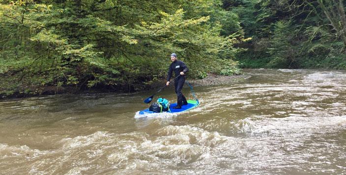 Stand Up Paddling Touren planen auf Fliessgewässern