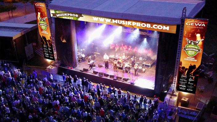 GEWA Mainstage, so nennt sich ab 2018 die Hauptbühne auf dem MUSIKPROB Brassfestival