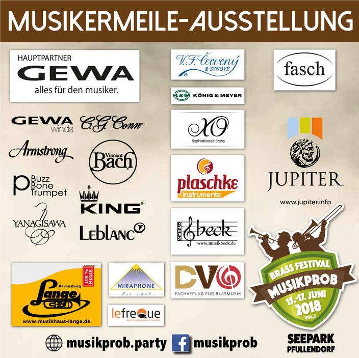 MUSIKERMEILE-AUSTELLUNG auf dem MUSIKPROB Brass-Festival 2018