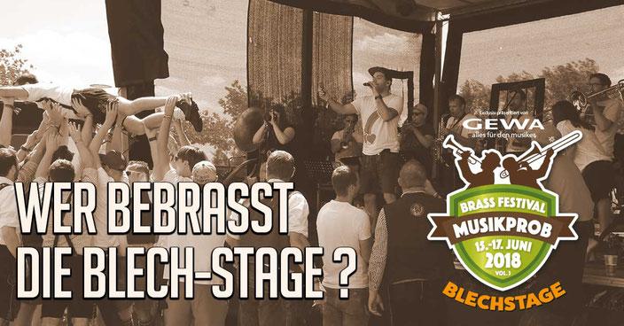 Wer bebrasst die Blech-Stage ?