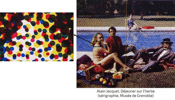 Tableau d'Alain Jacquet Le déjeuner sur l'herbe (sérigraphie)