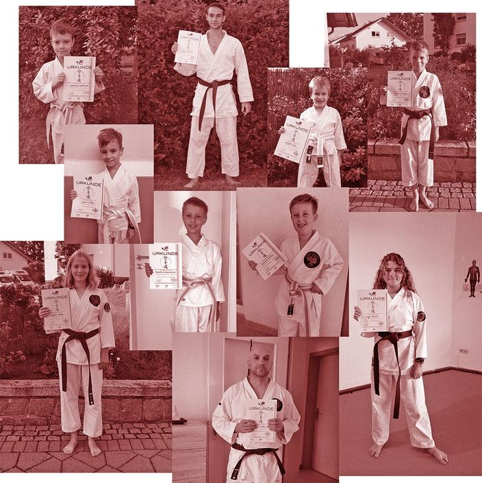 Impressionen von der Karate-Kyu-Prüfung vom 30. August 2020
