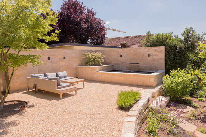 Gartengestaltung Wasserelement