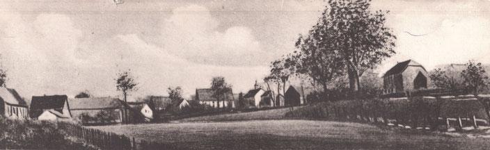 Alte Ansicht von Waltringen mit Blick auf die 1854 erbaute Kapelle
