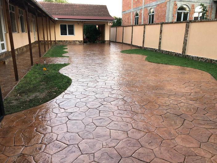 Pavaj beton amprentat Bucuresti