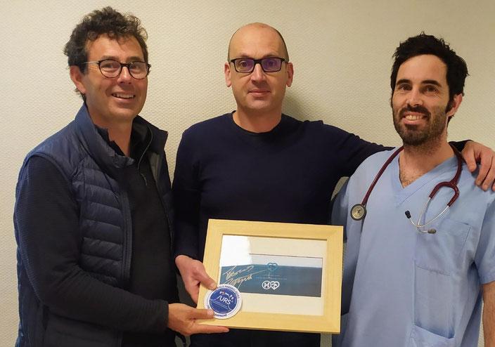 Dr Jean-Marc Le Gac, Pascal Chapelain, Dr Séamus Thierry (en panne de rasoir).