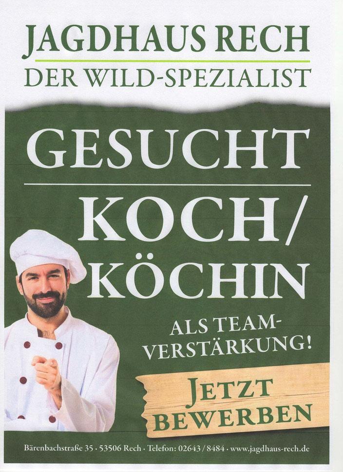 Wild Restaurant in Rech sucht Koch oder Köchin