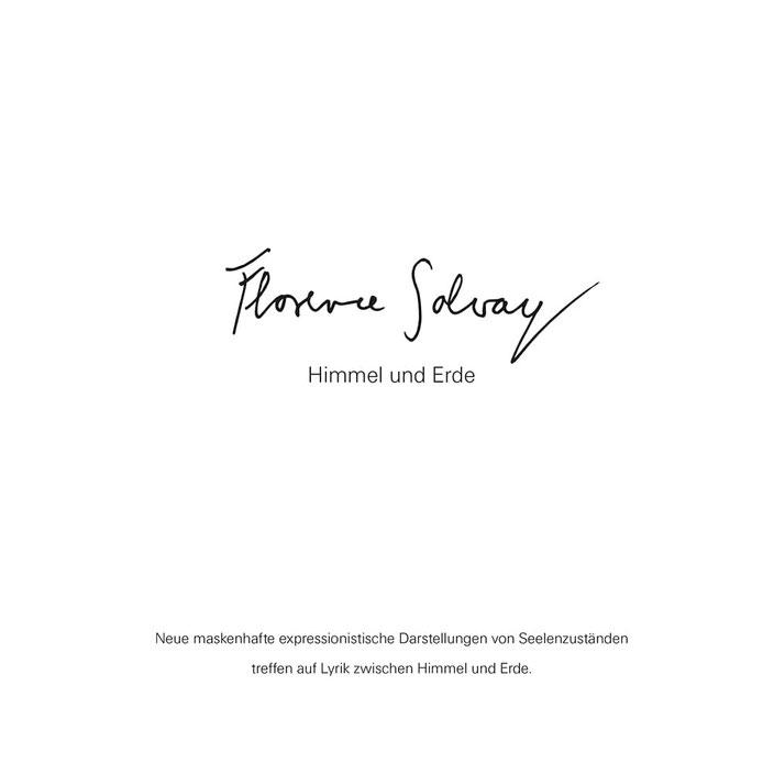 """Coveransicht des Kunst- und Gedichtbandes """"Himmel und Erde"""" von Florence Solvay"""