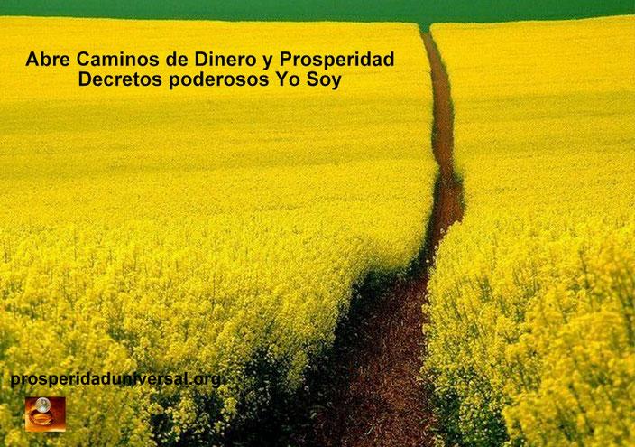 ABRE CAMINNOS DE DINERO Y PROSPERIDAD  DECRETOS PODEROSOS YO SOY - PROSPERIDAD UNIVERSAL